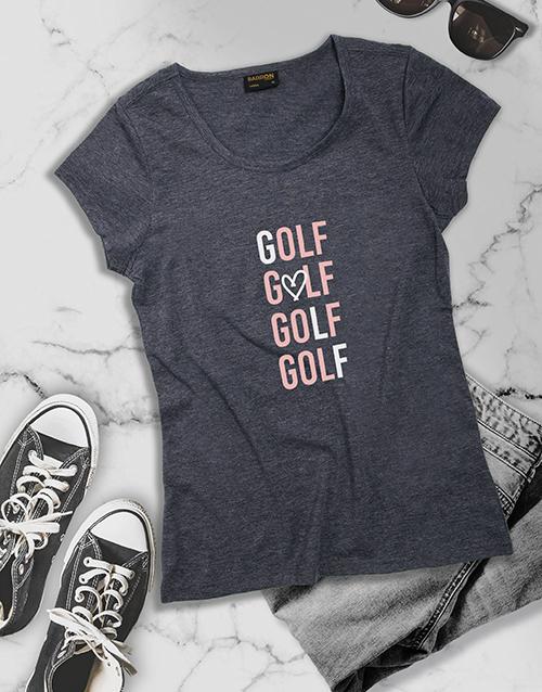 clothing: Ladies Grey Golf Shirt!