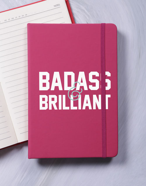bosses-day: Badass and Brilliant A5 Notebook!