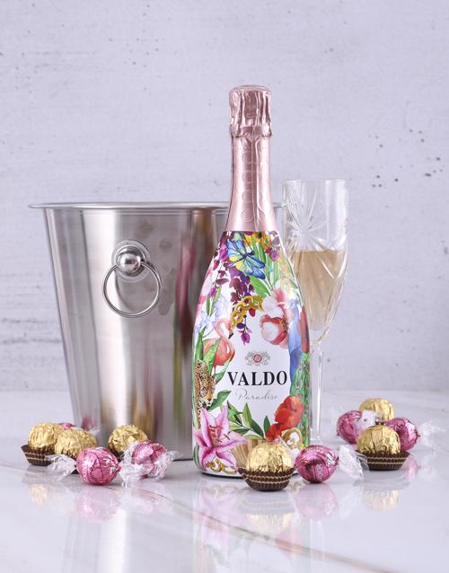 thank-you: Valdo Floral Prosecco Ice Bucket!