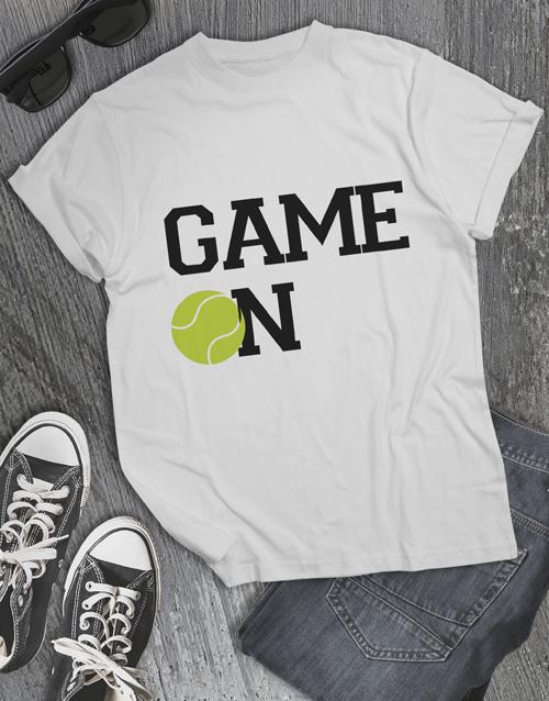 clothing: Tennis Game On T Shirt!