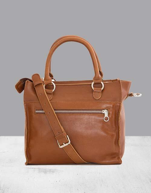 birthday: Zemp Bastille Toffee Tan Handbag!