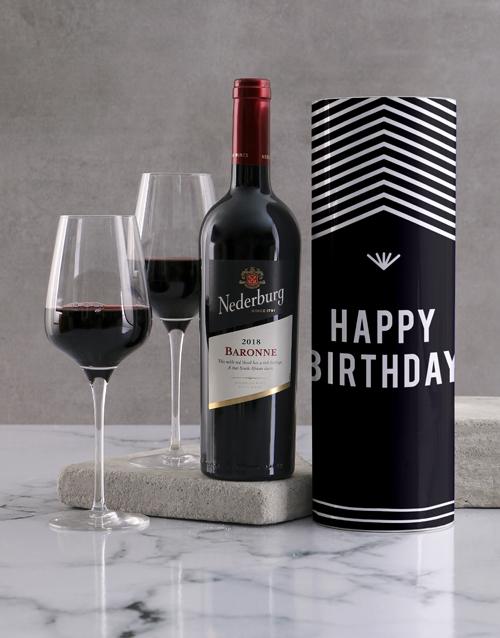 birthday: Happy Birthday Geometric Wine Tube!