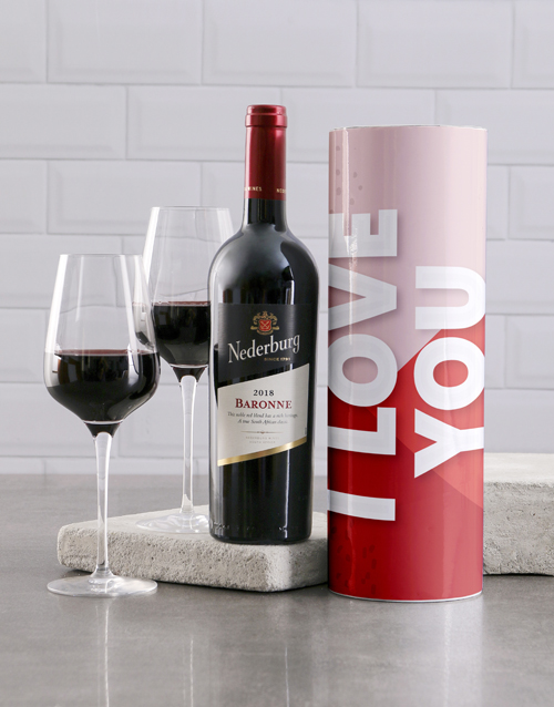 valentines-day: Trendy I Love You Wine Tube!