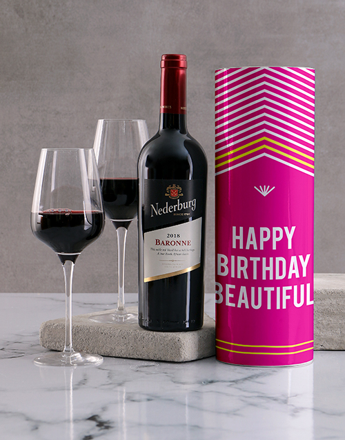 fine-alcohol: Beautiful Birthday Wine Tube!