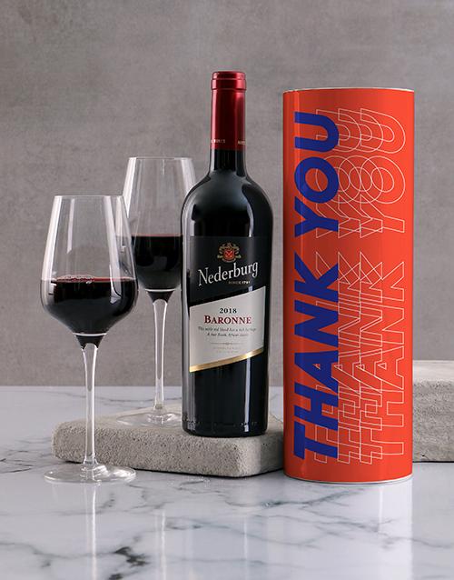 fine-alcohol: Orange Thank You Wine Tube!