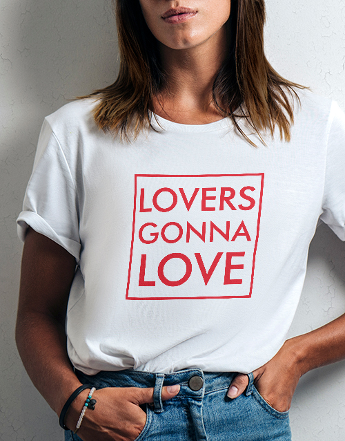 valentines-day: Lovers Gonna Love Ladies White Tshirt!