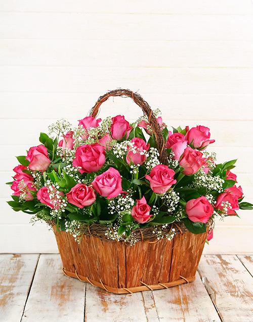 basket: Cerise Rose Basket!